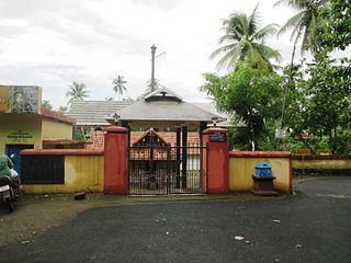 Thiruvankulam town in Kerala, India