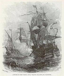 Thomas Cavendishs circumnavigation British naval voyage 1586–1588
