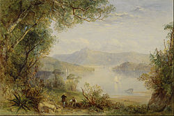 Thomas Creswick: View on the Hudson River