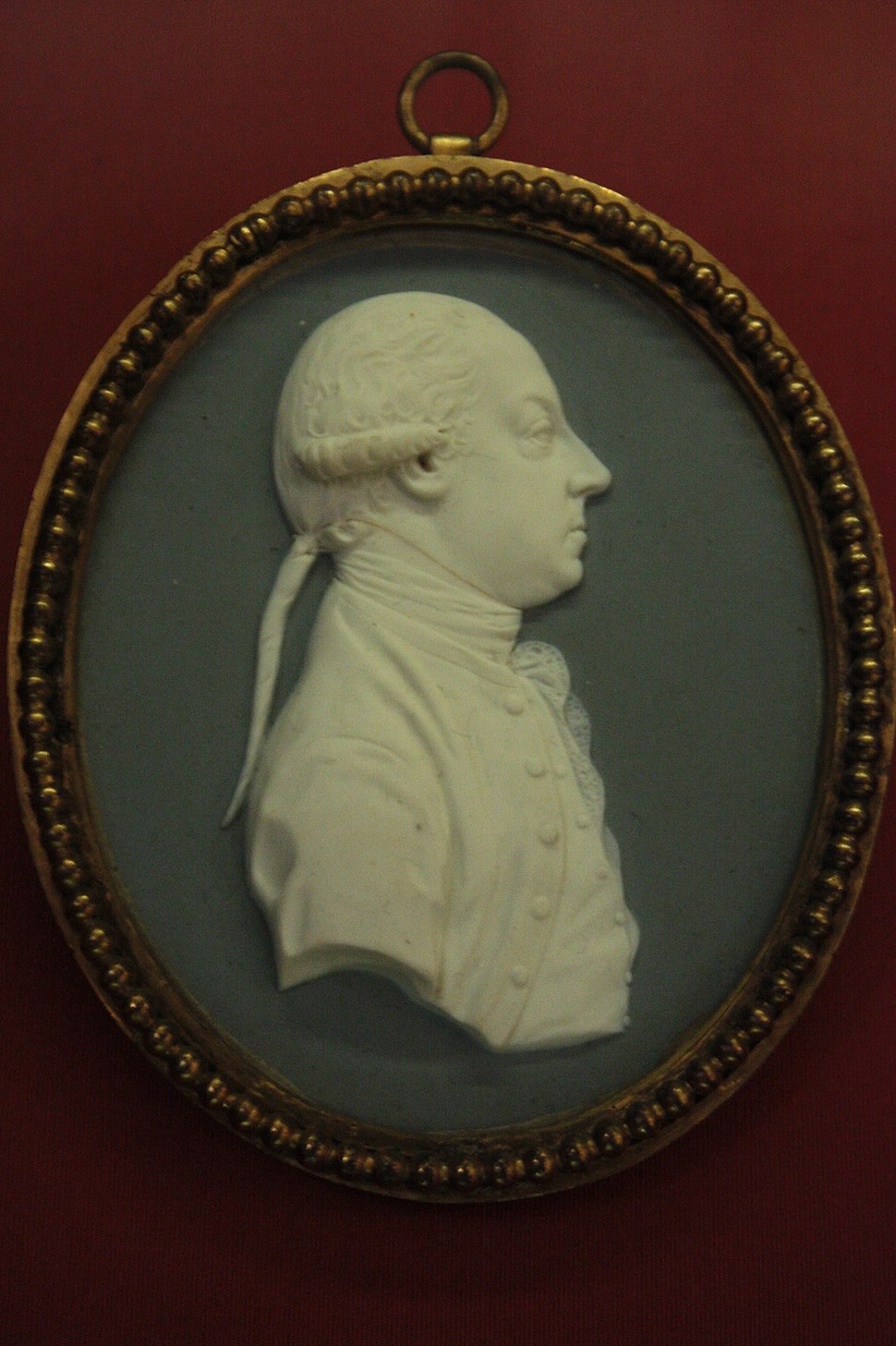 Thomas Pennant, miniature by Josiah Wedgewood