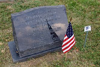 Tip O'Neill - O'Neill's cenotaph at the Congressional Cemetery, Washington D.C.