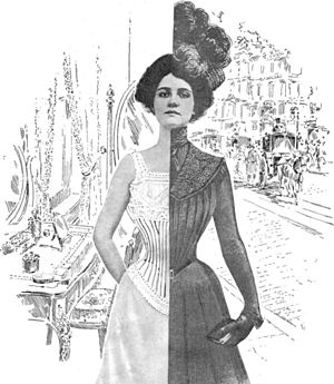 in 1900. The corset was only base of base the fashionable dress