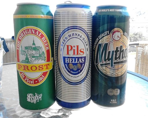 Three Greek beers