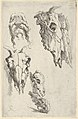 "Three ox skulls, two horse skulls, and a grotesque head, study for ""Democritus in Meditation"" MET DP836193.jpg"