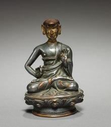 Tybet, ok.  XV-XVI wiek - Portret Dharmakirti - 2010.474 - Cleveland Museum of Art.tif