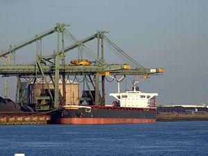 Tien Shan - IMO 9056533 - Callsign 9HA2053, Mississippi harbour, Port of Rotterdam, Holland 25-Jan-2007.jpg