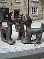 Tinners' Hounds, Redruth - Sculpture by David Kemp 2006 (geograph 1974382).jpg