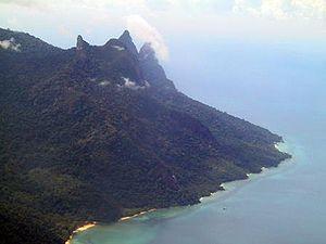 Tioman Island - Tioman Island's southern mountains