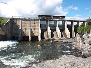 Gol, Norway - Image: Tisleifjorden dam