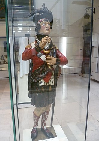 Tobacconist - Image: Tobacco advertising figure, National Museum of Scotland