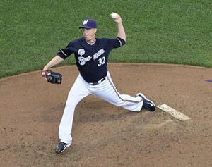 Tom Gorzelanny - Gorzelnny pitching for the Milwaukee Brewers in 2014.
