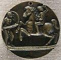 Tomaso di calisto (maestro delle eroiche virtù), un guerriero attaccato da un cavaliere, anni 1470.JPG