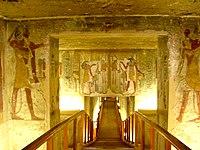 The tomb of Twosret and Setnakhte showing descending corridor