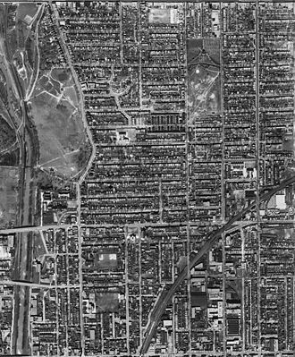 Riverdale, Toronto - Aerial View of Riverdale, 1942