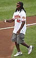 Torrey Smith, Ceremonial first pitch 2011.jpg