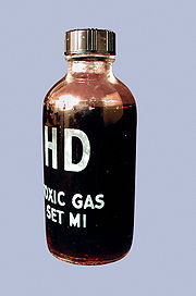 Toxic gas set (CAIS) bottle containing sulfur mustard (HD)
