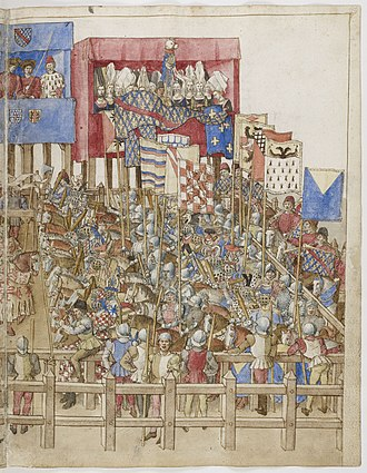 Knight - Page from King René's Tournament Book (BnF Ms Fr 2695)
