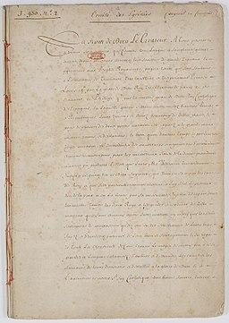 Traité des Pyrénées 1 sur 90 - Archives Nationales - AE-III-45-a