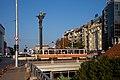 Tram in Sofia near Sofia statue 2012 PD 027.jpg