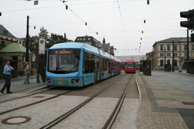Trams at Chemnitz Hauptbahnhof - geo.hlipp.de - 5066