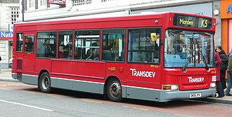 Transdev (historic) - Transdev London Plaxton Pointer bodied Dennis Dart in December 2008