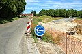Travaux de création d'un carrefour giratoire au croisement de la D46 et de la D91 à Saint-Lambert-des-Bois le 18 mai 2015 - 3.jpg
