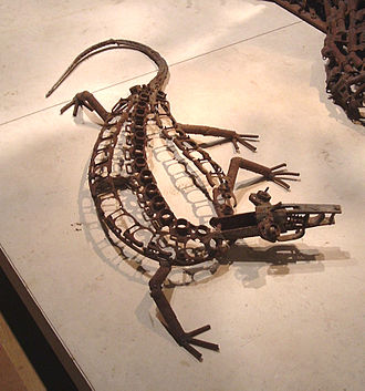 Tree of Life (Kester) - A lizard - one of the animals at the base of the tree