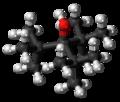 Tri-tert-butylmethanol molecule ball.png