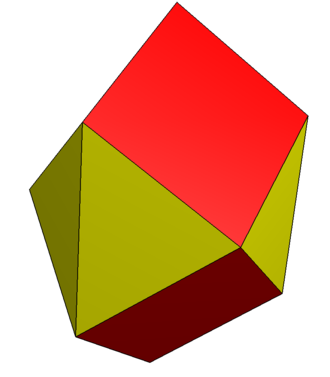 Trapezo-rhombic dodecahedron - Image: Triangular square dodecahedron