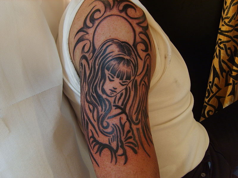 angel tattoos for men on arms. angel tattoos for men on arms. TRIBAL ANGEL (Image courtesy