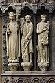 Trier, Liebfrauen - Portal li Ecclesia, Petrus, Adam.JPG