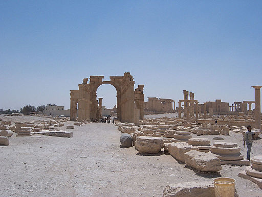 Triumphal Arch and Central Road at Palmyra