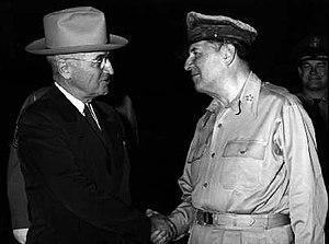 President Truman's relief of General Douglas MacArthur - Image: Truman and Mac Arthur
