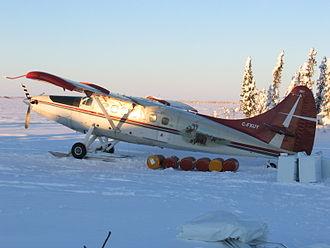 De Havilland Canada DHC-3 Otter - Turbo Otter on wheel-skis