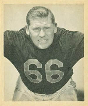 Bulldog Turner - Turner's 1948 Bowman Gum football card