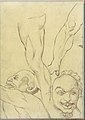 Two Demons and Two Legs, probably after Michelangelo (Smaller Italian Sketchbook, leaf 16 recto) MET DP269424.jpg