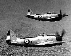Two P-47 Thunderbolts