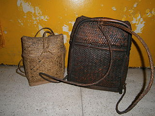 Pasiking indigenous basket-backpack of Northern Luzon in the Philippines.