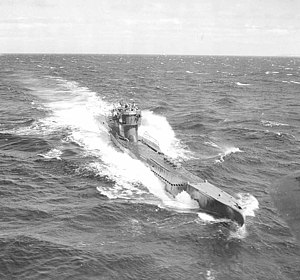 German submarine U-278 - U-278 seen from a B-24 Liberator