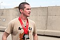 U.S. Air Force Capt. William Boland, the winner of the individual category, Bank of America Chicago Marathon (6254011000).jpg