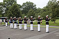 U.S. Marines of Marine Barracks Washington render honors during a wreath laying ceremony at the Marine Corps War Memorial in Arlington, Va, June 13, 2013 130613-M-KS211-010.jpg
