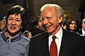 U.S. Senate Homeland Security and Governmental Affairs Committee Chairman Joe Lieberman and Ranking Member Susan Collins before the 2012 State of the Union Address.jpg