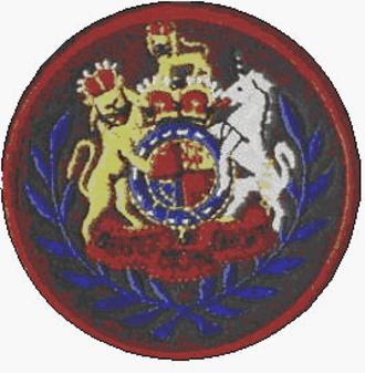 Warrant officer - Arm badge of a WO1 conductor RLC (British Army)