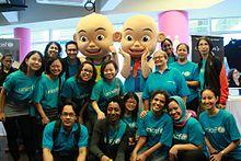 Upin ipin wikipedia unicef malaysia team with upin ipin reheart Image collections