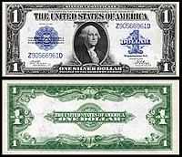 Certificado de prata de $ 1, série 1923, Fr.239, representando George Washington