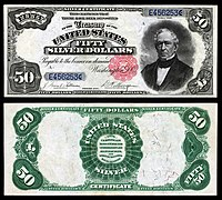 $50 Silver Certificate, Series 1891, Fr.331, depicting Edward Everett