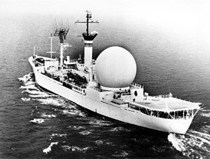 USNS Kingsport (T-AG-164) - Image: USNS Kingsport Satellite Communications Ship