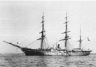 Charles Schroeter - USS Alliance at anchor.