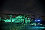USS Bonhomme Richard (LHD-6) CH-53E night maintenance 160921-N-XK809-059.jpg