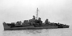 USS Borie (DD-704), circa in late 1944 (19-N-99960)
